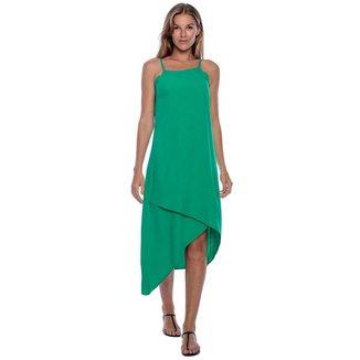 Vestido Midi Recortes Verde Light - P - Veste do 38 ao 40
