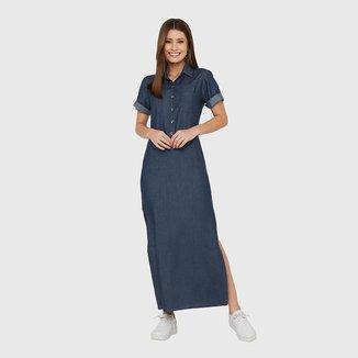 Vestido Miss Joy Chemise Longo Feminino 6975