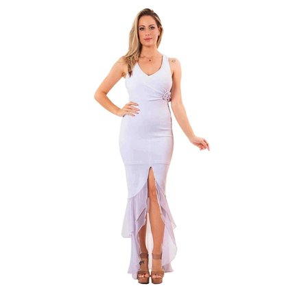 Vestido Miss Misses Longo detalhe metal Preto - M