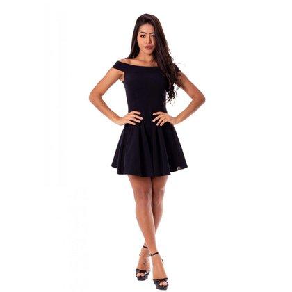 Vestido Miss Misses Rodado Ombro a Ombro Preto - M