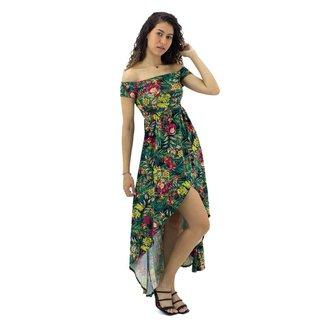 Vestido Mullet Estampa Floral Mosaico Feminino