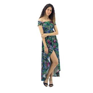 Vestido Mullet Floral com Manga Curta Mosaico