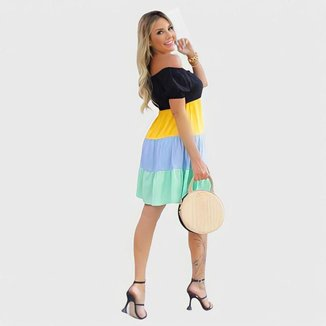 Vestido Multicolor Curto D bell