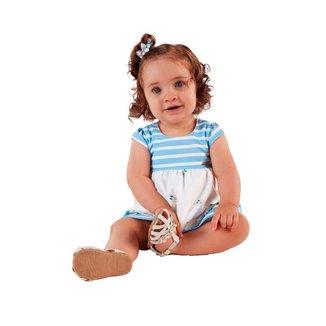 Vestido Mundi Baby Malha Margaridas Bebê