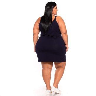 Vestido Plus Size De Alcinha Tubinho Liso