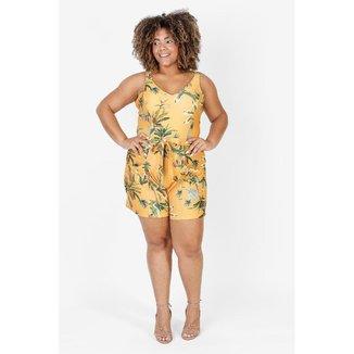 Vestido Plus Size Feminino Estampado Floral