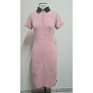 Vestido Polo KR 110065 Rose/mescla Tecido com elastano e confortável