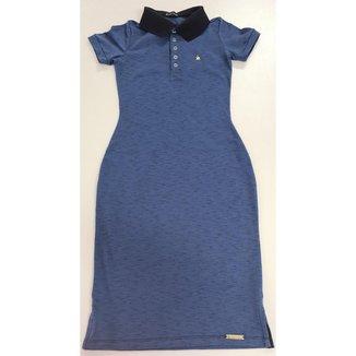 Vestido Polo KR 110066 Azul Marinho/mescla Tecido com elastano e confortável
