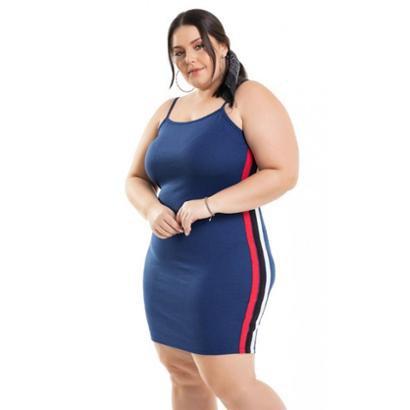 Vestido Ponta Roma com Faixas Laterais Miss Masy Plus Size Feminino - Feminino