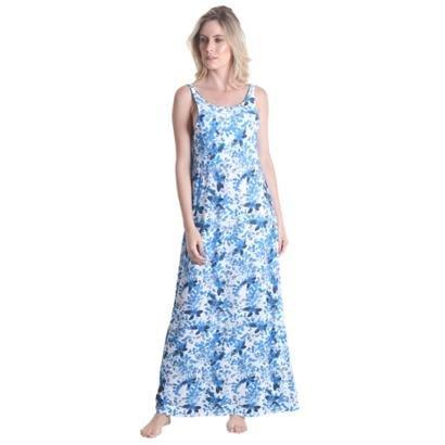Vestido Praaiah longo Flores Primavera - Feminino - Feminino
