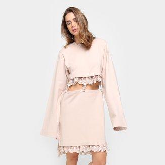 Vestido Puma Kimono Curto Sleeve Tee