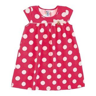 Vestido Rotativo Coral Primeiros Passos Menina Cotton 39215-294
