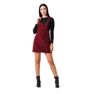 Vestido Salopete Disparate Feminino Veludo Cotelê Conforto