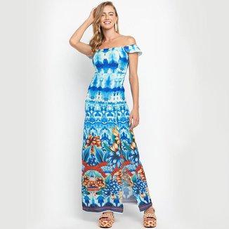 Vestido Thaidai Aquarela Royal LA LIMA