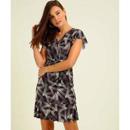 Vestido Transpassado Feminino Estampado Amarração - 10048185028