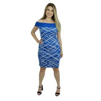 Vestido Tricot Nanda Shopping do Tricô Verão Tubinho Modal jJsto Sem Manga