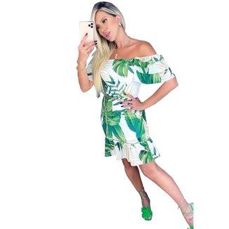 Vestido Zarky Curto Estampado Verde