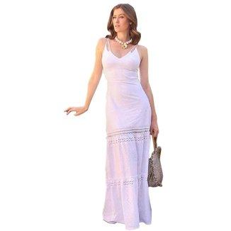 Vestido Zarky Longo Off White