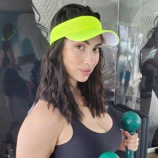 Viseira esportiva feminina corrida caminhada praia sol color