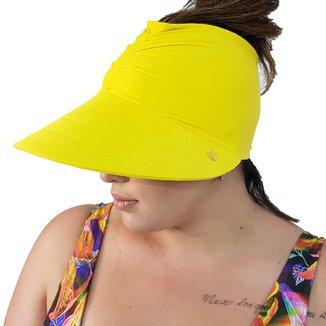 Viseira Turbante com Proteção UV 50+ Amarelo