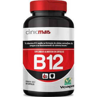 Vitamina B12 60 cápsulas de 450mg