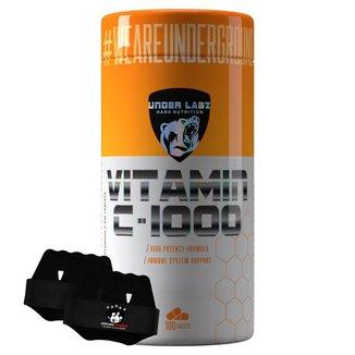 Vitamina C 1000mg - 100tabs - Under Labz + Luva