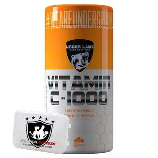 Vitamina C 1000mg - 100tabs - Under Labz + Porta Cápsulas