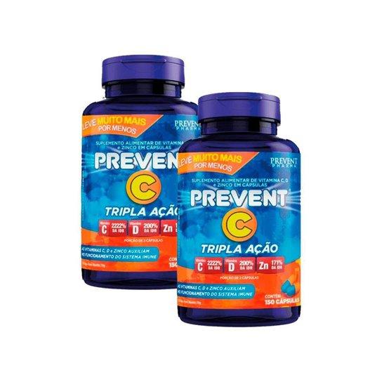 Vitamina C+d E Zinco Tripla Ação 300 cáps Prevent -