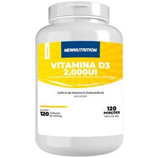 Vitamina D3 2.000Ui - 120 Cápsulas NewNutrition