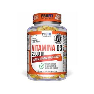 Vitamina D3 2000ui Vit D3 60 Cápsulas - Profit Labs
