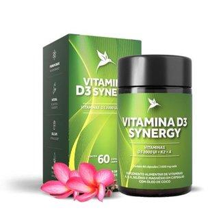 Vitamina D3 Synergy D3, K2, A, 60 cápsulas Puravida