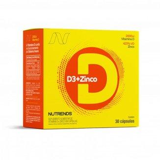 Vitamina D3 + Zinco Nutrends 30 Cápsulas