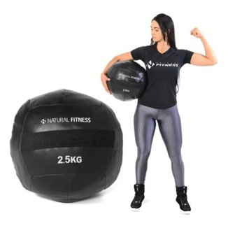 Wall Ball 2,5 Kg Para Crossfit Medicine Funcional Slam Ball