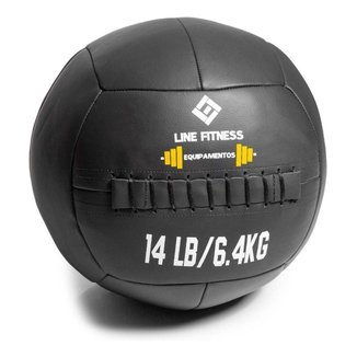 Wall Ball Em Couro 6kg