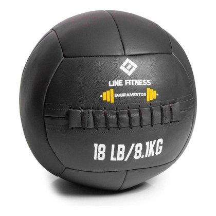 Wall Ball Em Couro 8kg