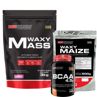 Waxy mass 3kg+Waxy Maize 800g+Bcaa 4,5 100g - Bodybuilders