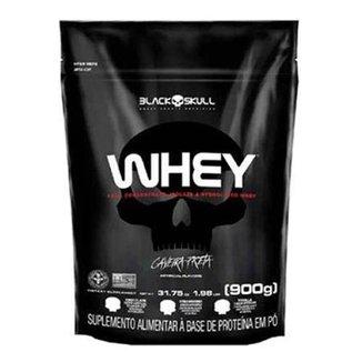 Whey 100% Concentrado Isolado Hidrolisado - 900g Refil Chocolate - Black Skull