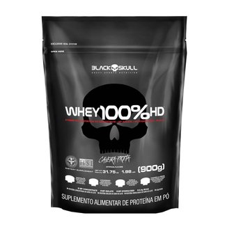 WHEY 100% HD 900G REFIL - BLACK SKULL (CHOCOLATE)