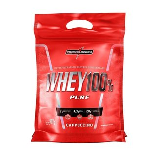 Whey 100% Refil - 907g - Integralmedica - Cappuccino