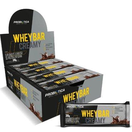 Whey Bar Creamy Caixa C/ 12 Barra De Proteina - Probiótica-Chocolate