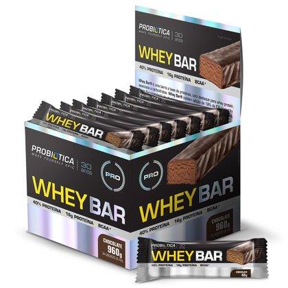 Whey Bar cx c/ 24 unidades - Probiótica