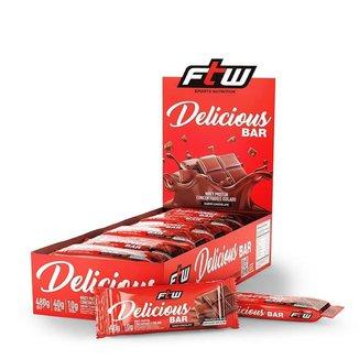 Whey Bar Delicious - 12 unidades de 40g Chocolate - FTW