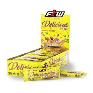 Whey Bar Delicious - 12 unidades de 40g Mini Chocolates Sortidos - FTW