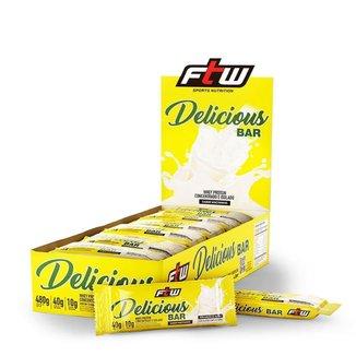 Whey Bar Delicious - 12 unidades de 40g Wheyninho - FTW