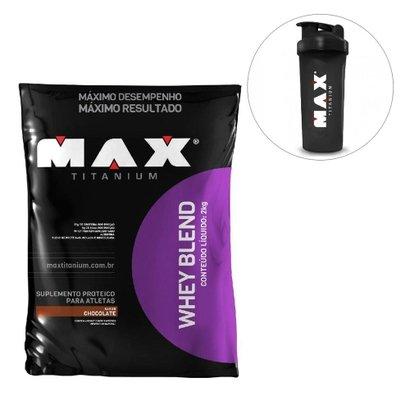 Whey Blend 2kg Max Titanium + Coqueteleira