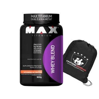 Whey Blend Vitamina de Frutas Max Titanium 900g + Bolsa/Mochila