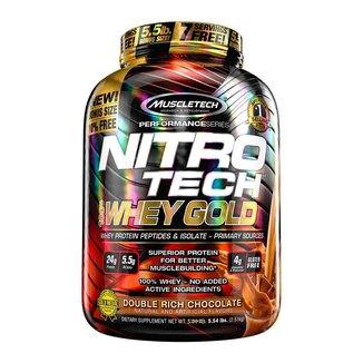 Whey Gold Nitro Tech - 2510g Duble Rich Chocolate - Muscletech