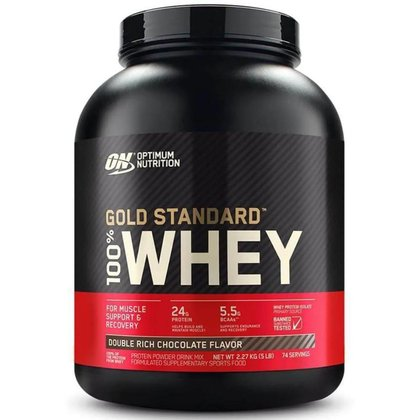Whey Gold Standard - 2.27kg - Optimum Nutrition - Delicious Strawberrry Flavor