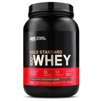 Whey Gold Standard - 907g - Optimum Nutrition - Delicious Strawberry Flavor