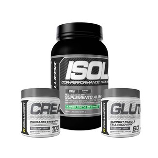 Whey Hydro/Isolate (841G) + Creatina (300G) + Glutamina (300G) Cellucor